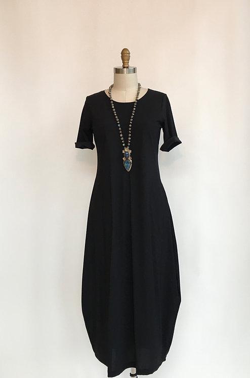 Short Sleeved Long Lantern Bottom Dress