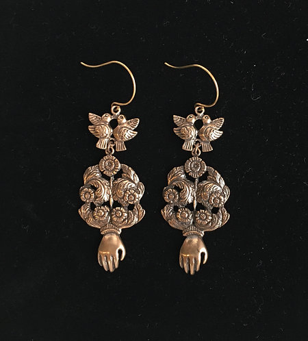 Bronze La Reine Earrings