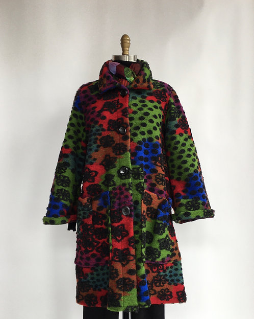 Bright Colored Unlined Thigh Length Coat