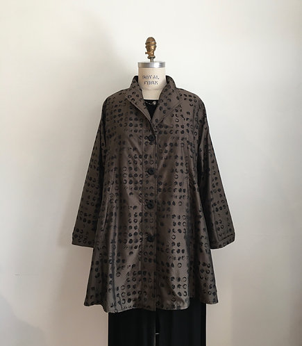 Sun Kim A-line Jacket with Abstract Dots
