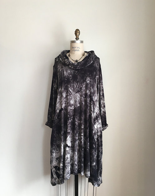 Niche Tie Dyed Cowl Neck Dress
