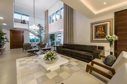 Interior com esquadrias em PVC