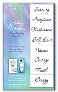 Healing Whispers Water Blessings Labels