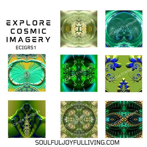 Explore Cosmic Imagery -Set of Greens
