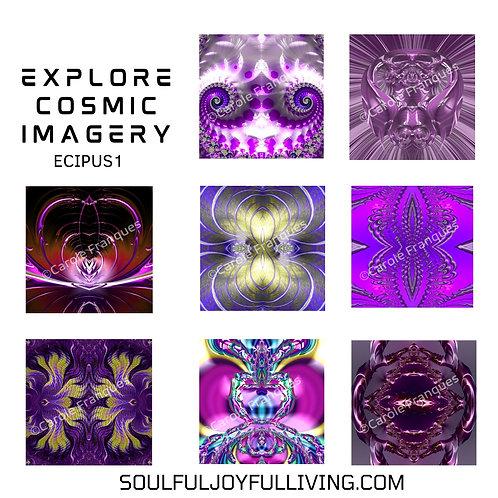 Explore Cosmic Imagery -Set of Purples