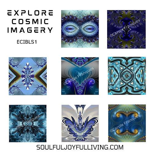 Explore Cosmic Imagery -Set of Blues