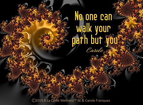 for website No one can walk your path (1