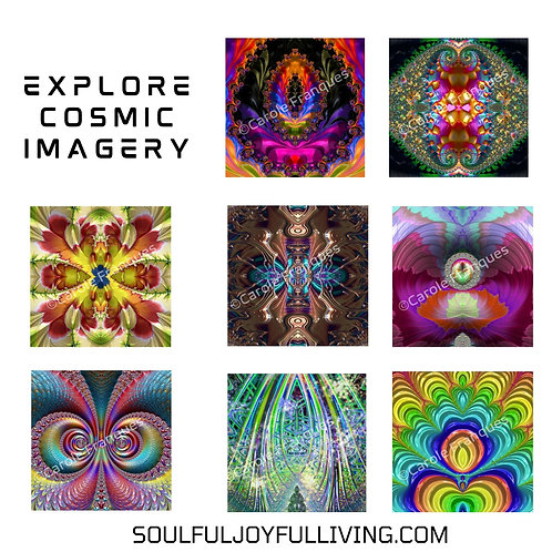Explore Cosmic Imagery - Set of Multi Color