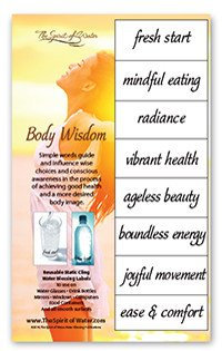 Body Wisdom Water Blessings Labels