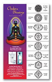 Chakra Water Blessing Labels