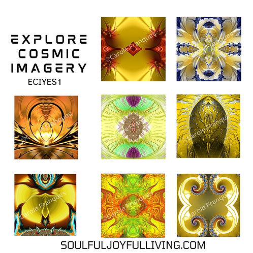 Explore Cosmic Imagery -Set of Yellows