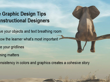 Five Graphic Design Tips for Instructional Designers