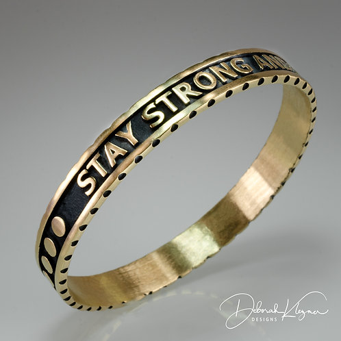 Stay Strong Bangle in Bronze
