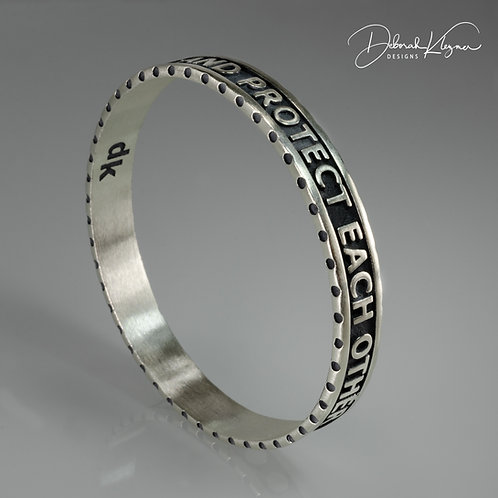 Stay Strong Bangle in Sterling Silver