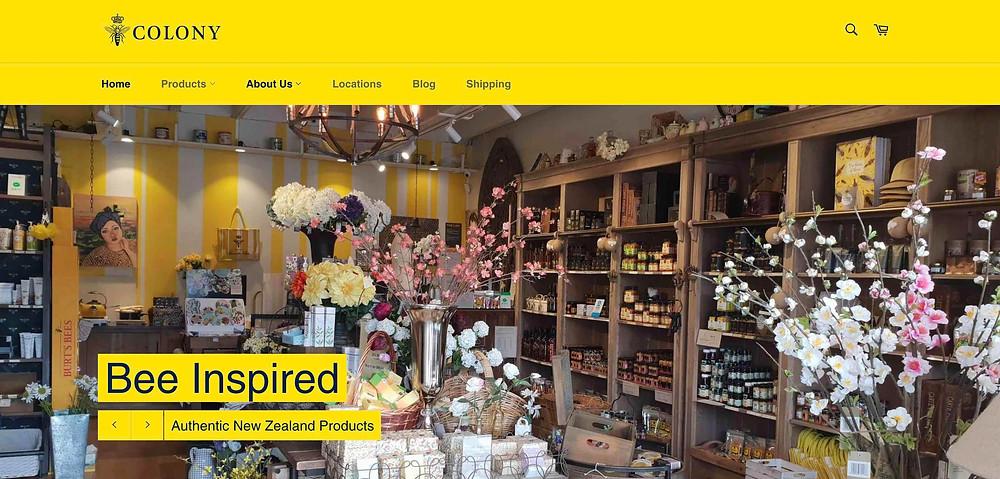 Colony digital ecommerce SEO Honeymeisters website