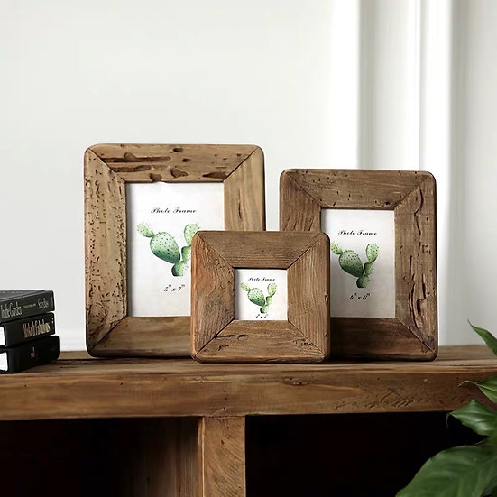 Paavo Rustic Wooden Picture Frame