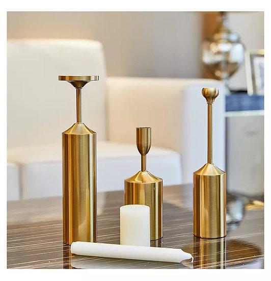 Gold Meridian Candle Holder (Set)