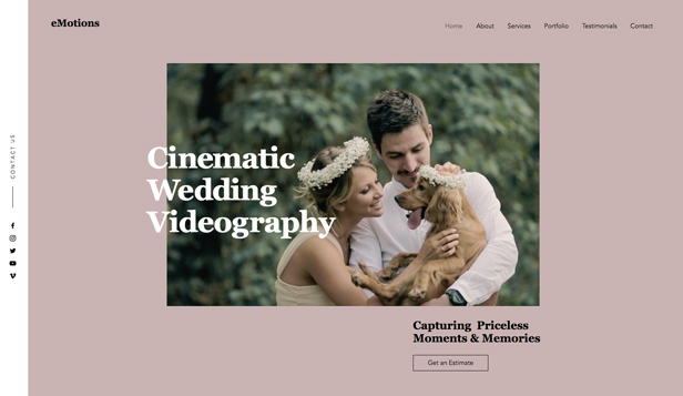 Weddings & Celebrations website templates – Wedding Videographers Company