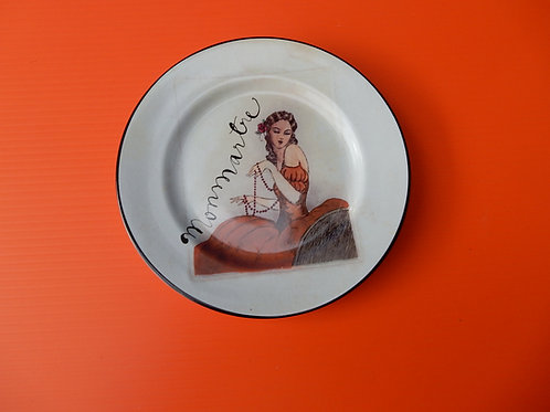 FEMALE DECORATIVE PLATE SIGNED ROSANNA