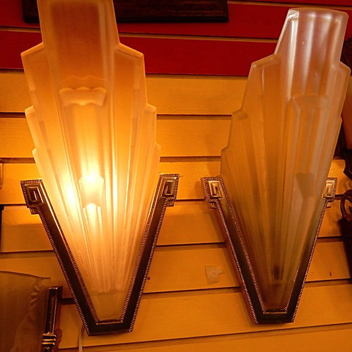 1930'S FRENCH ART DECO WALL SCONCES