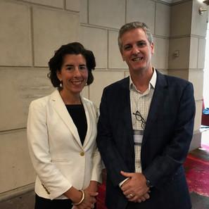 Kevin with Rhode Island Governor Gina Raimondo
