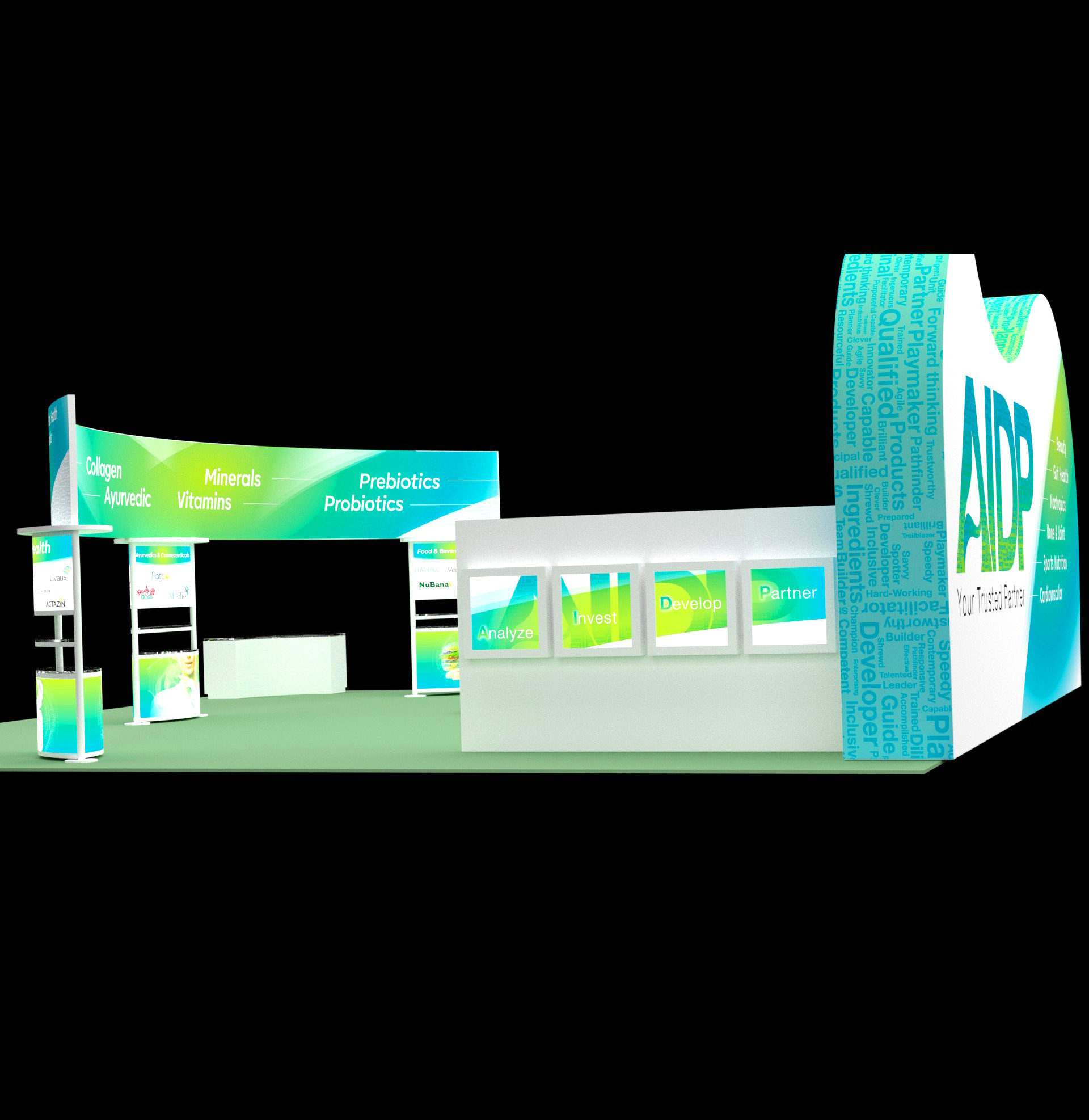 40x40 Tradeshow Booth AIDP