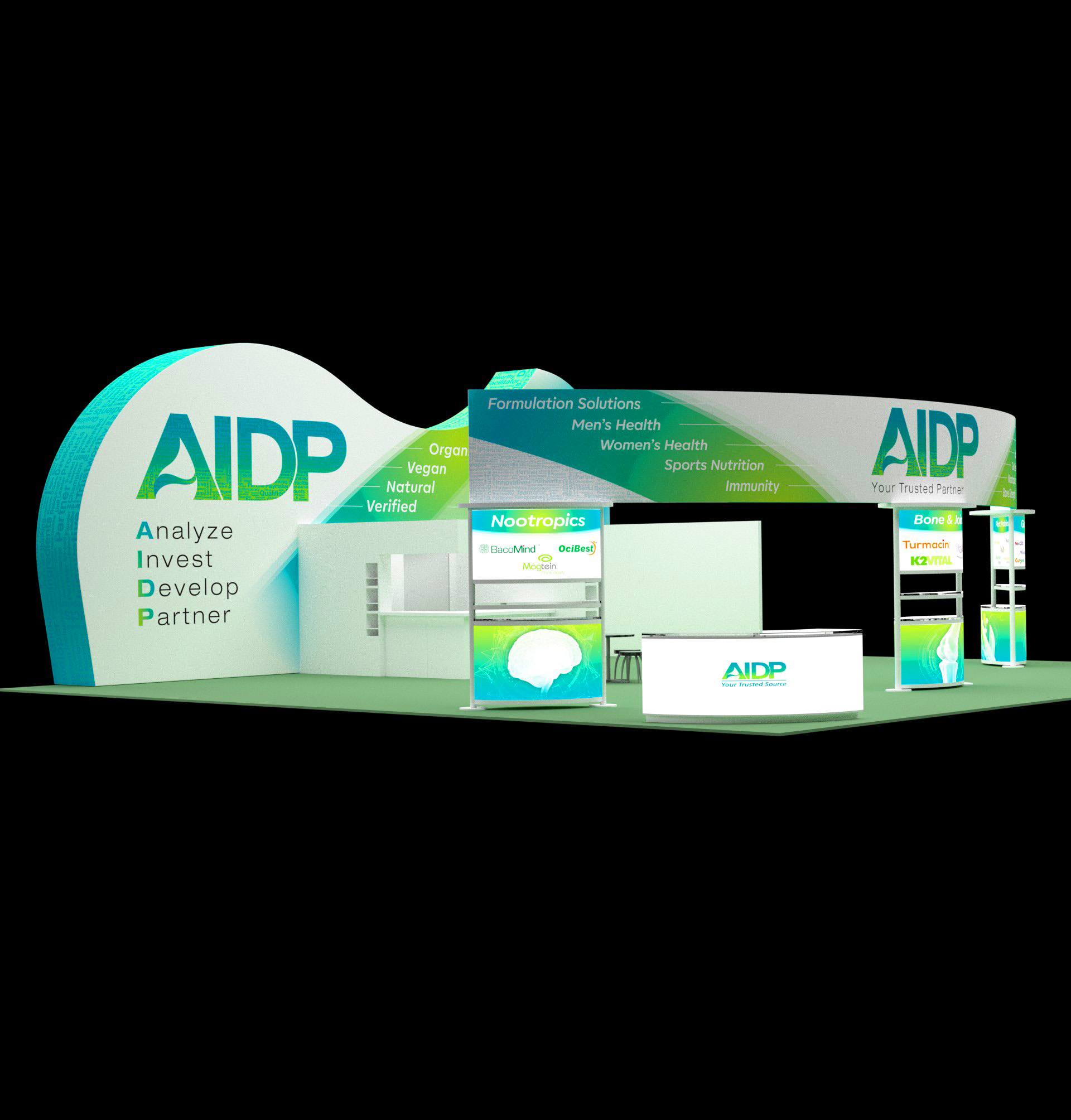40x40 Tradeshow Booth Design