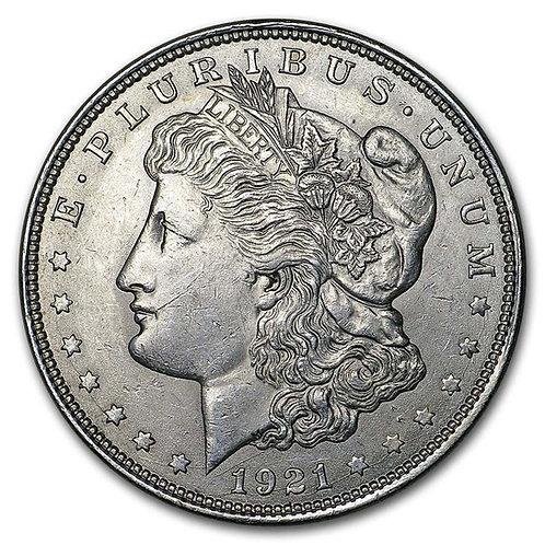 1921 Morgan Silver Dollar BU