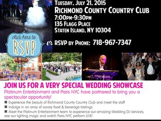 Meet the Experts Wedding Showcase July 21st!
