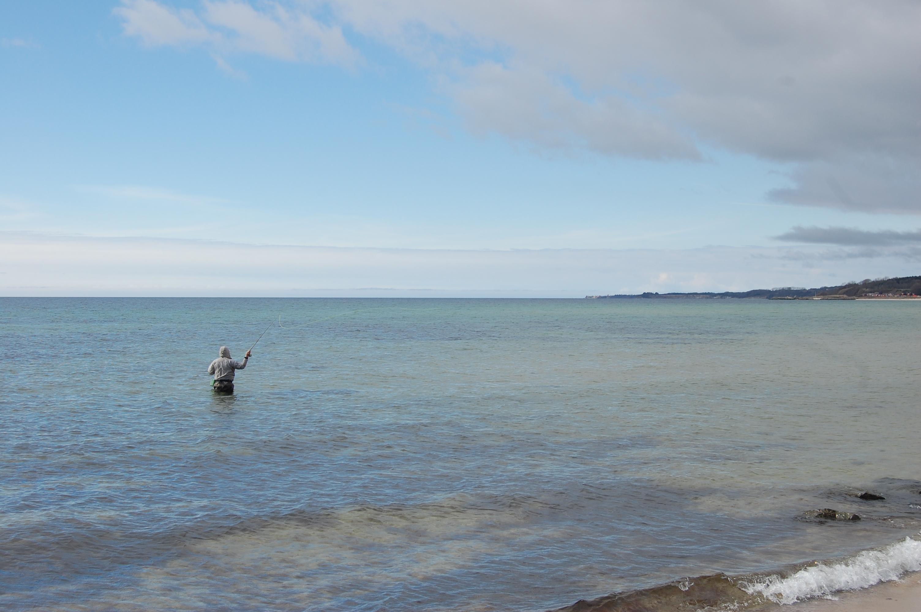 Boderne strand - ørredfiskeri