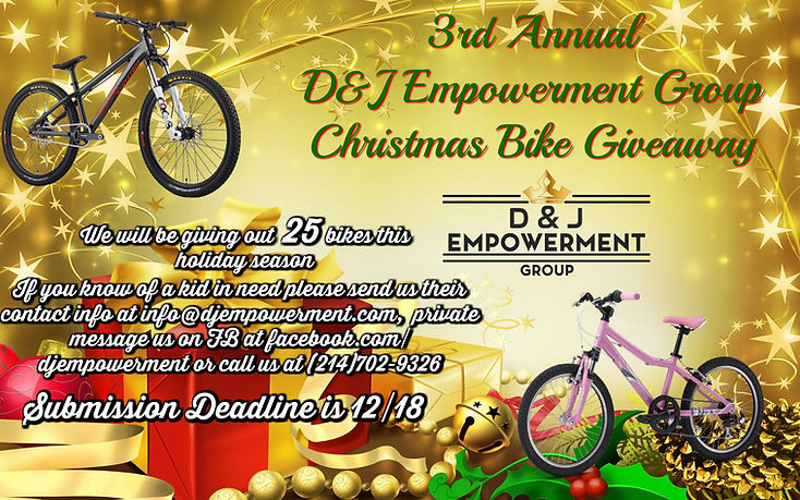 Christmas Bike Giveaway Flyer