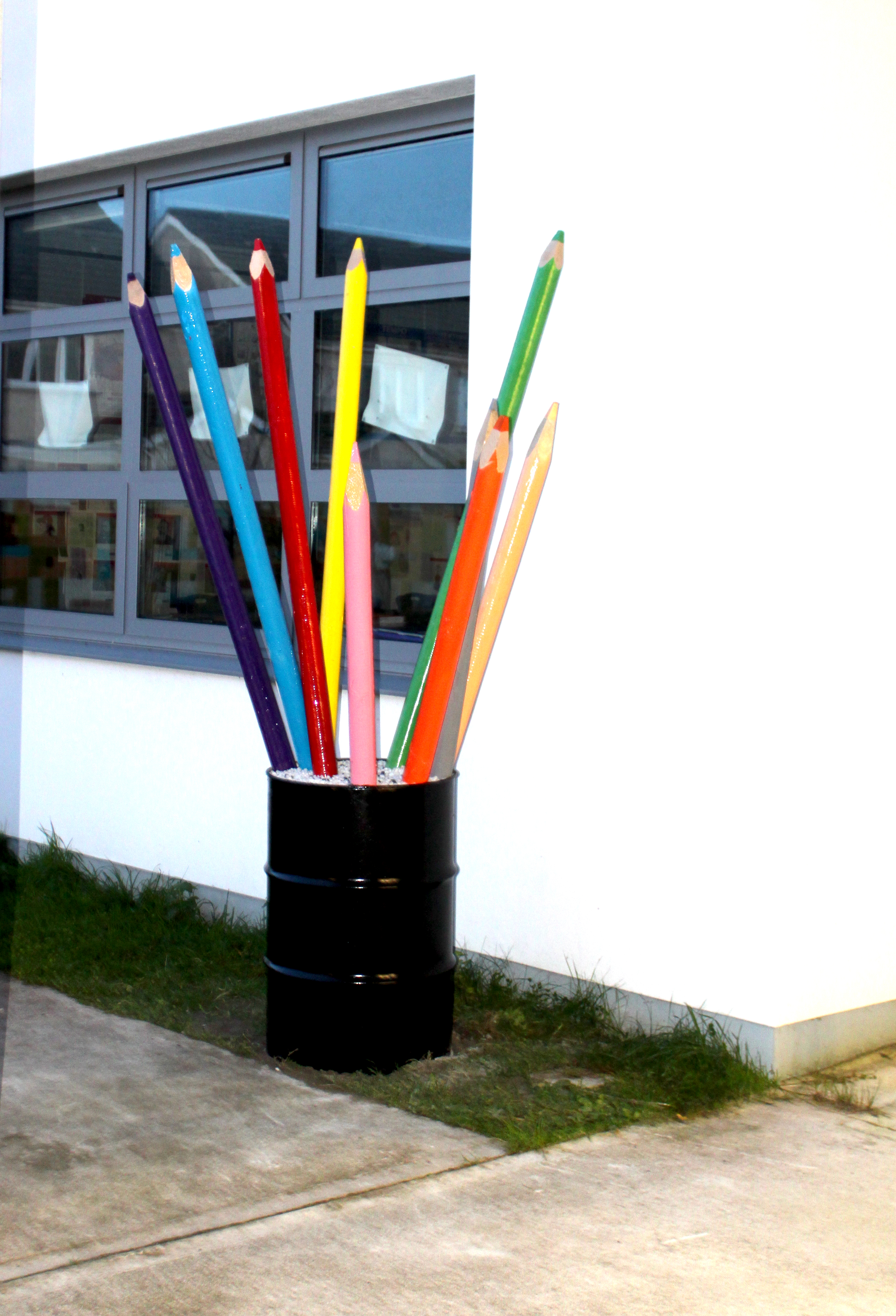 Giant colouring pencils