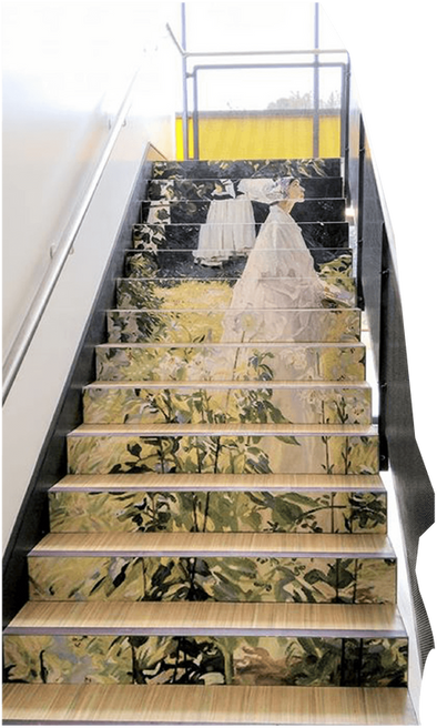 Stairs at le Cheile Secondary School