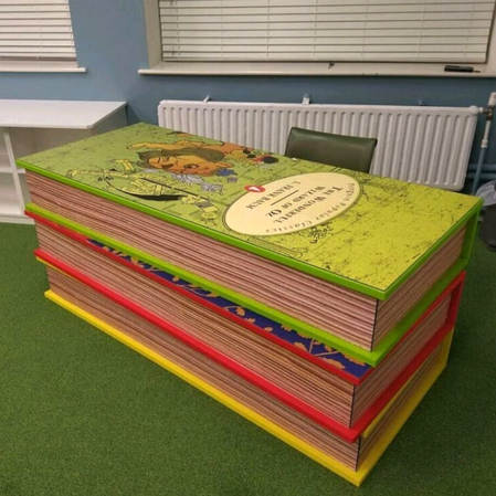 'Book Stack' desk by 'Julie The Genie'