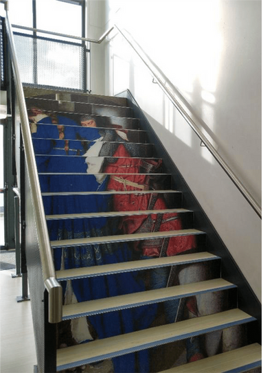 Stairwell Art at Le Cheile Secondary School
