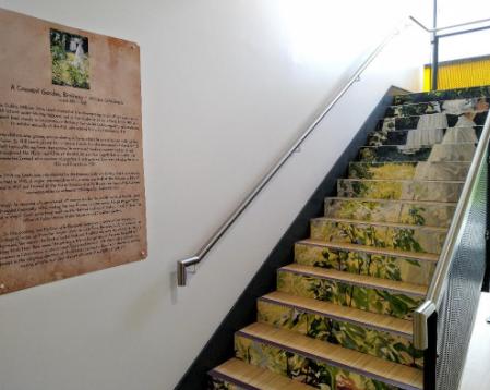 'A Convent Garden' by William Leech - Stairwell Art by Julie The Genie