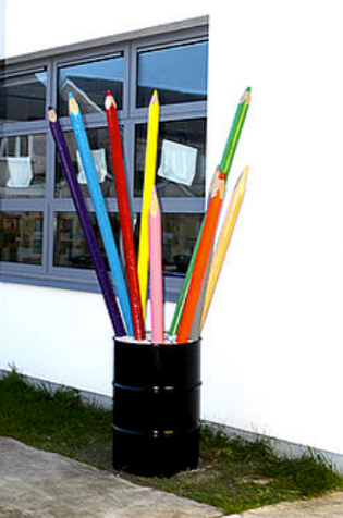 Giant Colouring Pencils - Julie The Genie