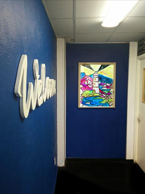 Revamped Reception area.