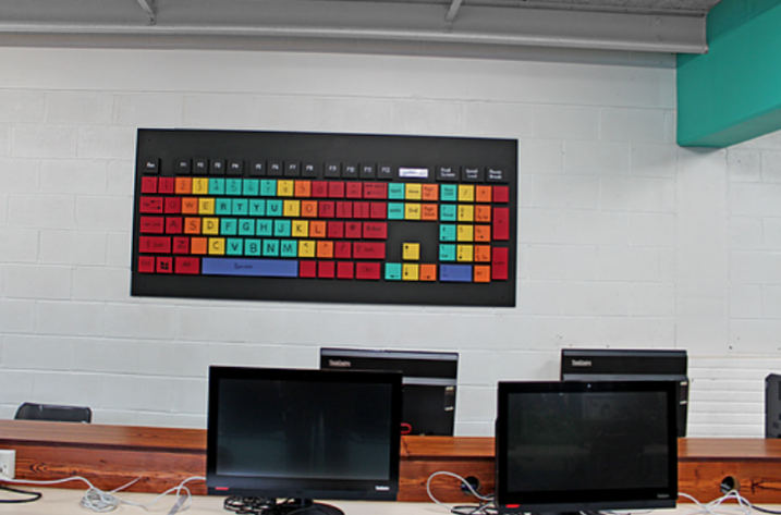 A giant keyboard I created for a Letterkenny school.