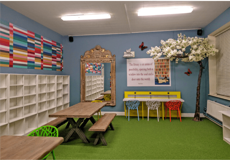 'Julie The Genie' library design at The Teresian School
