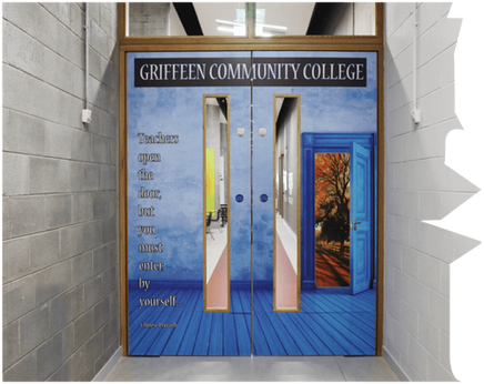 Magic doors at Griffeen Community College
