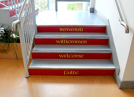 'Welcome' Stairwell - Julie The Genie