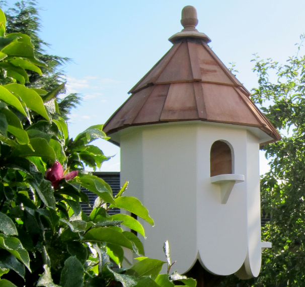 Red Cedar wood shingle roof dovecote