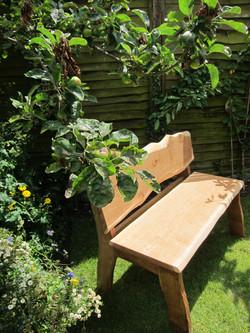 Oak Waney Edge Garden Bench