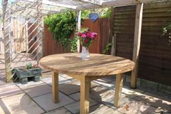 Garden oak table