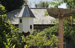 Slate roof dovecote and pergola
