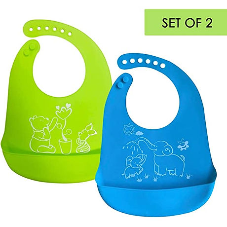 Dishwasher safe Silocone Bibs