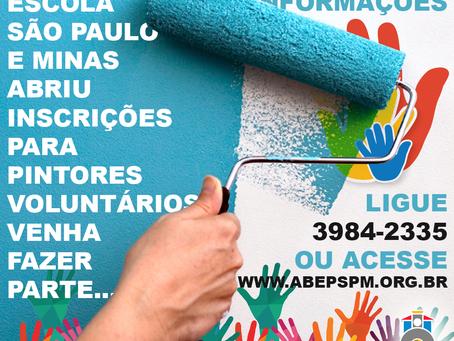 Inscrições para Voluntários para Pintores