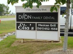 Dixon Dental Elia's Tenant Sign