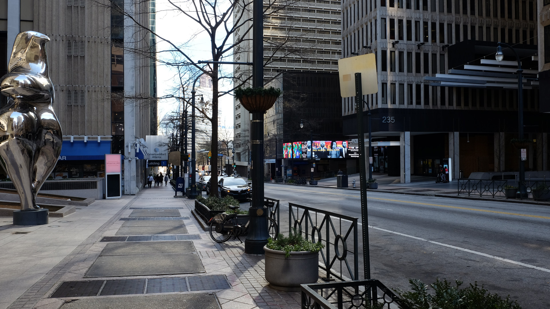 Peachtree Street between Hotel Indigo and Peachtree Center